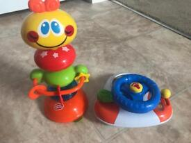 Chad valley kids high chair toys with suction cups!
