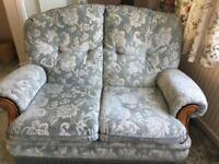 Two seater sofa, armchair and pouffe - in Bransgore - priced to sell as a set