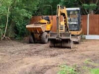 Digger or Dumper Hire with operator