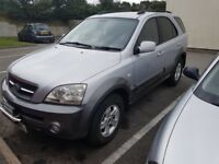 2004 KIA Sorento 2.5 CRDi Manual, Turbo diesel, 4x New tyres, Tow bar, Long MOT, P/X or Swap?