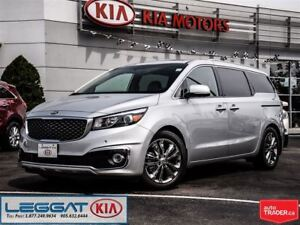 2016 Kia Sedona SXL + factory demo like new