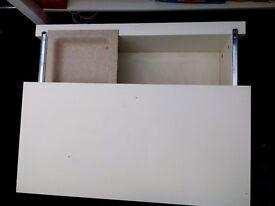 Ikea white sliding storage unit