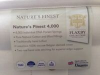 Super King Zip and Link Mattress FLAXBY Natures Finest 4000