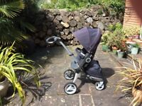 Stokke Xplory with extra accessories, navy blue, great condition