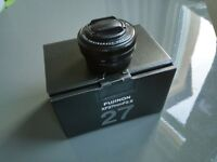 Fujifilm xf 27mm f2.8 pancake prime lens for the x-series cameras