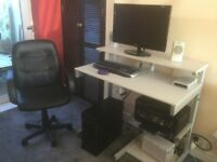 i7 Desktop Computer C/W Workstation/Monitor/Chair Full Set Up Ready to Go