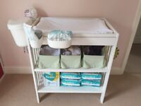 IKEA Gulliver Baby Changing Table in white - including Mat and Storage Tubs