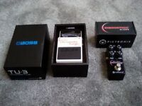 2 guitar pedals, boss tu3 tuner / pigtronix micro disnortion.