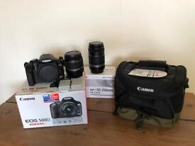 Canon 500D with 18-55 & 55-250 lens' plus extras