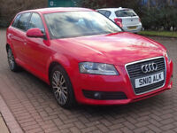 AUDI A3 2.0 SPORTBACK TDI SPORT 5d 138 BHP MEDIA CONNECTIV (red) 2010