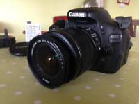 Canon Eos 600D with 18-35mm lens and 2 batteries