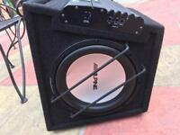 Alpine subwoofer and amplifier