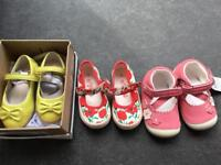 Shoes for baby girl, size 4. Clarks, Next, Mothercare. First walkers.