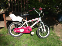 """Children/girl bike Hello Kitty - 16"""" wheel with stabilisers suitable for 4-7 years"""