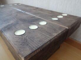 Chunky Solid Timber Walnut Wax Coffee Table