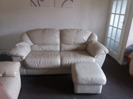 Large 2 seater and foot stool