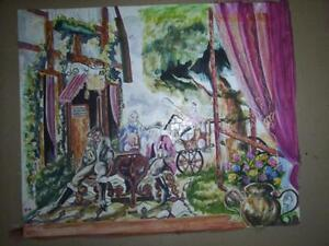 WATERCOLOUR PAINTING - Whimsical period painting