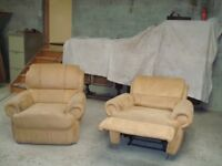 Reclining chair with matching armchair