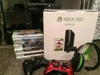 Xbox 360 500gb plus games, controllers & headset