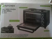 28L mini oven hob and grill