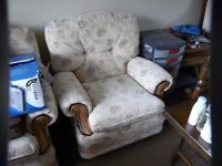 Armchairs x 2 buy singly or as a pair