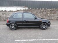 2002 NISSAN MICRA 1.0 TEMPEST - 3 DOOR - BLACK - MOT 1 YEAR - 50 MPG - 998CC - BARGAIN !!