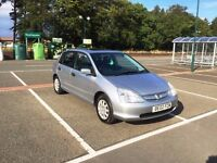 2002 Honda Civic 1.4 SE Lots of work just done. Brand new tyres. Very cheap to run