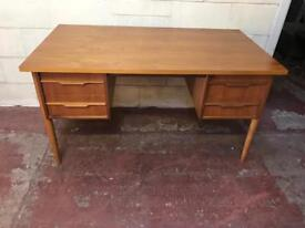 Large vintage teak desk