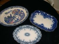 Victorian Large Meat Platters x Three