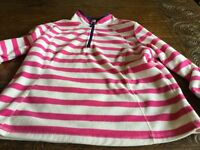 Striped Tu fleece size 16 Pink and white