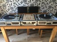 Technics 1200s full dj set up