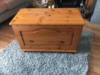 Solid pine wooden box