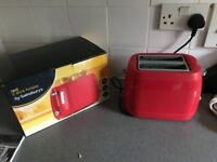 New Sainsbury red 2 slice toaster