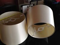 2 x Off White Lampshades