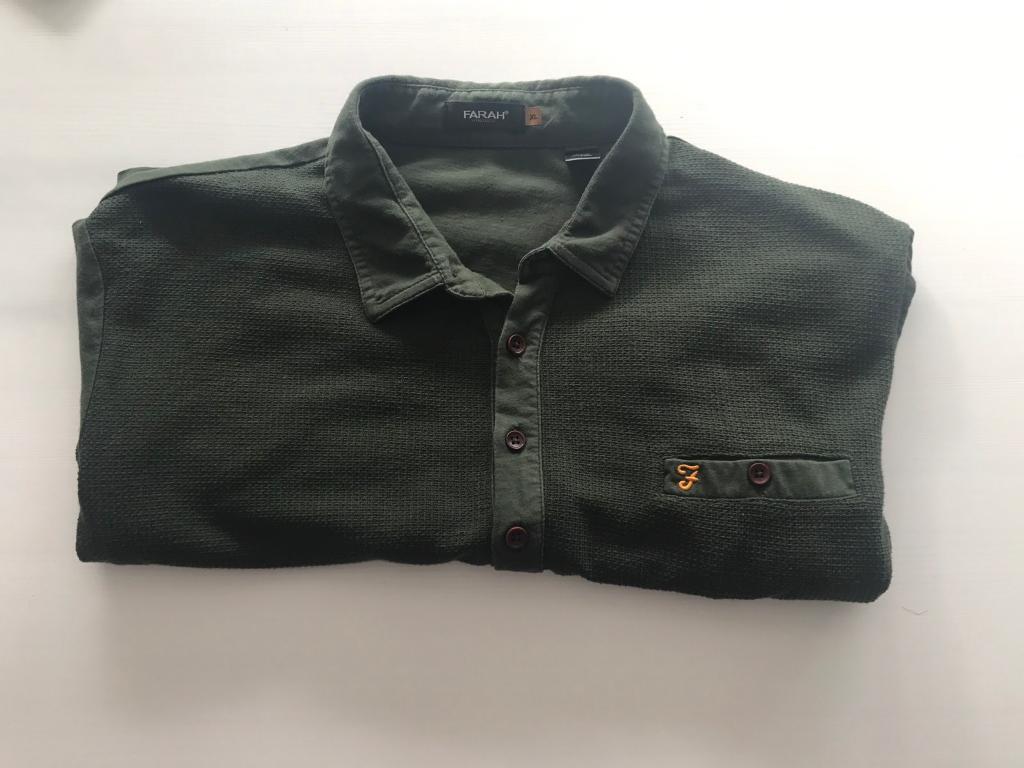 Gents Farah Dark Green Polo