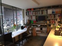 Desk spaces available in creative studio next to open green space of London Fields E8