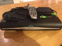 Sky plus HD box with remote and wireless connector