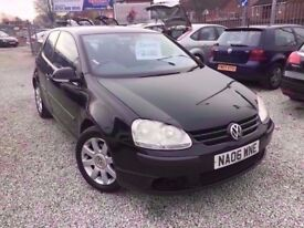06 VOLKSWAGEN GOLF S 1.4 PETROL IN BLACK *PX WELCOME* MOT TILL JANUARY 2019 £1695