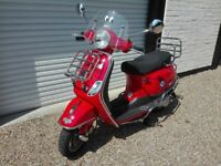 2011 VESPA LX 50 SCOOTER ONLY 178 MILES ON THE CLOCK AS GOOD AS NEW