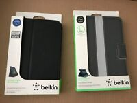 """2xBelkin Bifold Case with Stand for Samsung Galaxy Tab2-7.0""""+ Striped Cover with Stand for iPad Mini"""
