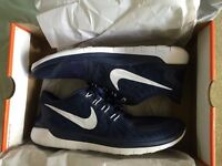 Nike Free 5.0 trainers, UK 8.5, navy, worn once