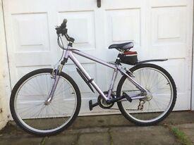 "Ladies 16"" frame lilac and black bike"