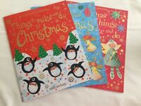 3 Christmas Activity and Sticker books