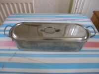 Large Stainless Steel Fish Poaching Pan With Lid Weymouth Free Local Delivery