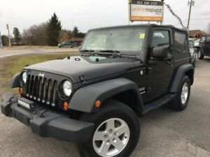 2010 Jeep Wrangler Sport 6-Speed 2 Door 4x4 ! Aux Lights, Hit...