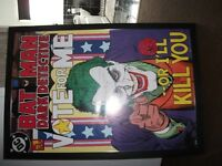 "picture poster of the joker 38"" tall x 26w"