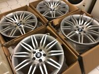 "4 x NEW 19"" BMW SPIDER SPYDER STAGGERED ALLOY WHEELS 5x120 8.5J 9.5J BMW 5 SERIES E60"