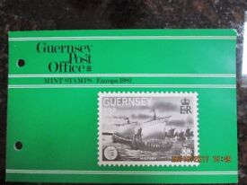 GUERNSEY POST OFFICE EUROPA 1982 STAMPS