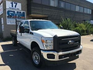 2012 Ford F-350 XL Crew Cab Flat Bed Wood Deck 4X4 Gas