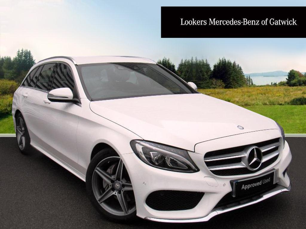 mercedes benz c class c220 d amg line white 2016 09 01 in crawley west sussex gumtree. Black Bedroom Furniture Sets. Home Design Ideas
